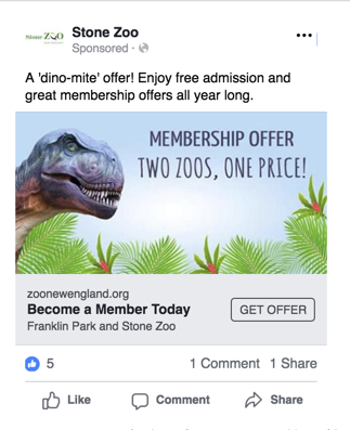 Zoo New England Digital Ad